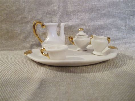 dolls house tea set white ceramic doll house tea set from nostalgicimages on ruby lane