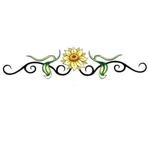 sunflower vine tattoo designs sunflower armband design tattoowoo scenery