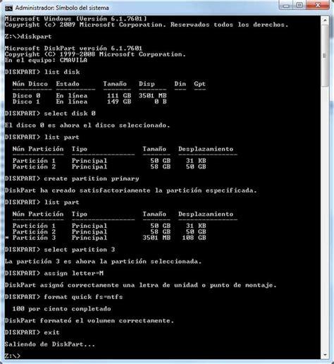 diskpart format quick ntfs detodounpoco c 243 mo instalar windows 7 sin dvd de