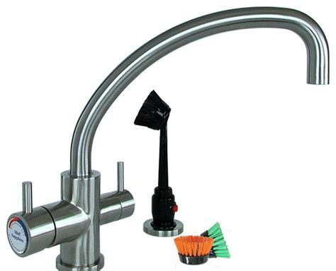 Dishmaster Faucet by Dishmaster Sapphire Faucet With Low Arc Spout Satin