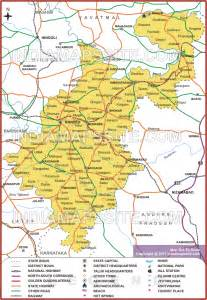 nanded district map map of nanded district