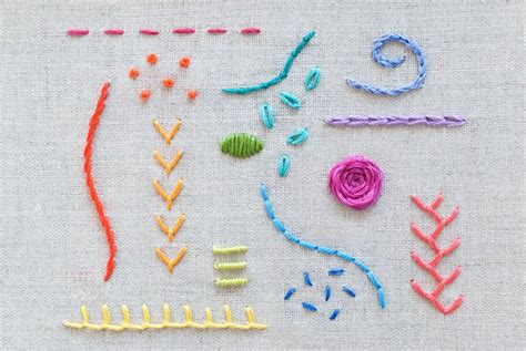 Handmade Embroidery Stitches - learn 15 essential embroidery stitches