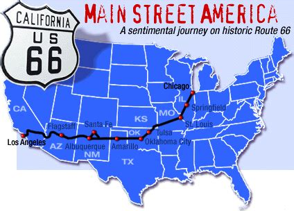 map of usa route 66 national route 66 links