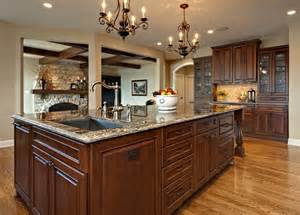 large island with sink and dishwasher traditional