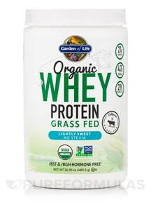 Garden Of No Stevia Organic Whey Protein Grass Fed Lightly Sweet No Stevia