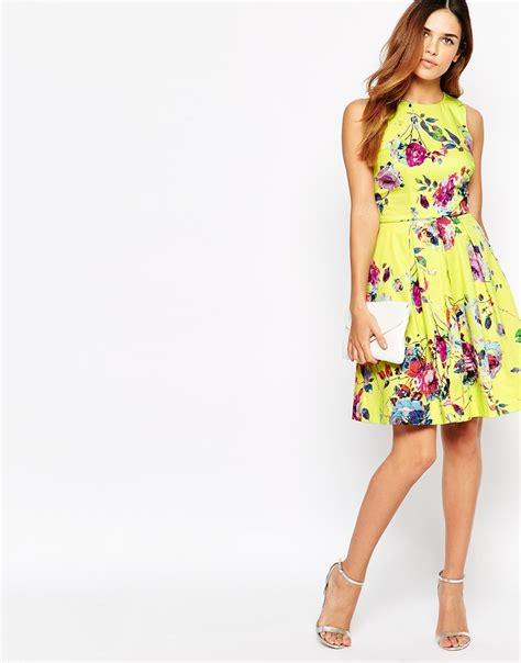 Donma Dress Yellow by Lyst Warehouse Yellow Floral Prom Dress In Yellow