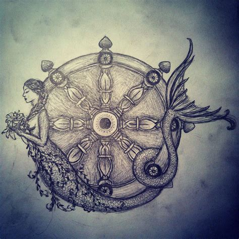 siren tattoo new drawing during exams siren karma wheel