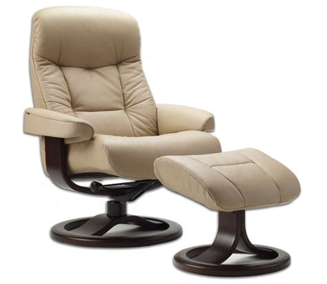 ergonomic ottoman fjords 215 muldal ergonomic leather recliner chair