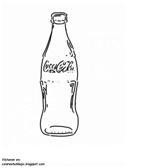 imagenes para pintar vidrio colorea tus dibujos botella de coca cola de vidrio para