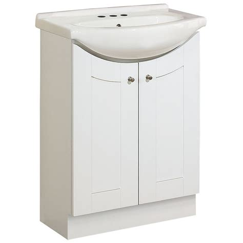 altra white 24 inch shaker style bath vanity magick woods 24 inch eurostone shaker style vanity base with top matte white the home depot canada