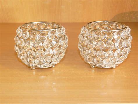 Kristall Kerzenhalter by Kristall Kerzenst 228 Nder 2er Set Kugel 10 Cm