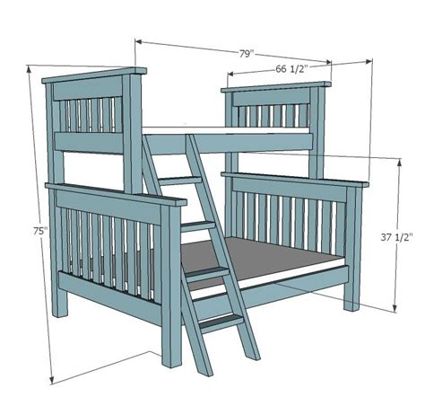 ana white build  twin  full simple bunk bed plans