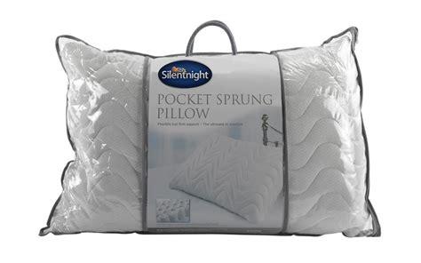 silent pillow silentnight pocket sprung pillow mattress