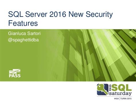 sql server 2016 new security features