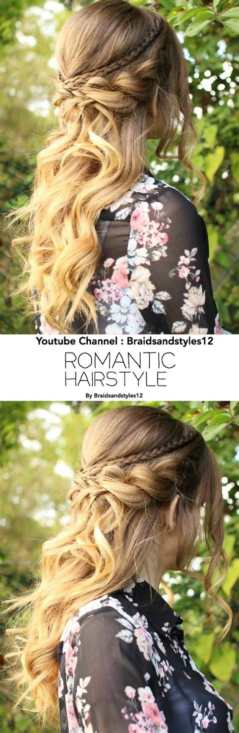 curly hairstyles half up half down youtube beautiful romantic half up half down hairstyle with curls