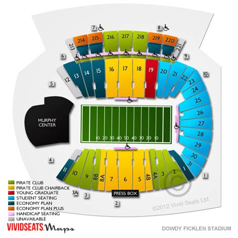 dowdy ficklen stadium seating chart dowdy ficklen stadium seating chart seats