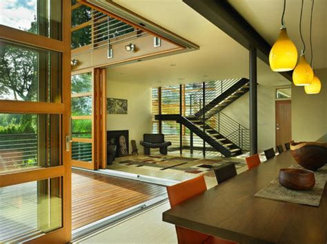 Interior Architects Seattle by Modern Nature Retreat Overlooking Lake Washington Leschi Reisdence Freshome