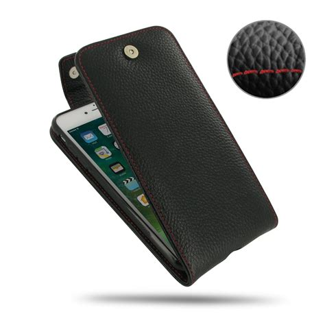 iphone 8 plus leather flip top wallet stitching pdair