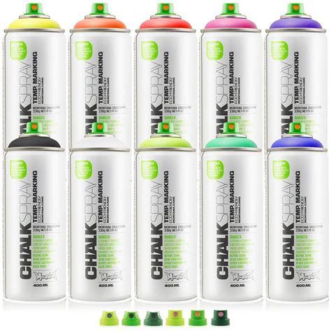 chalkboard paint eco friendly montana can 10 color kit chalk spray paint 400ml temp