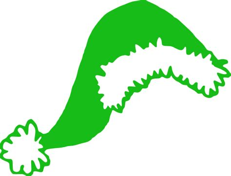 green santa hat clip art at clker com vector clip art