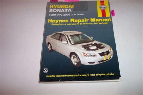 service manual hyundai sonata haynes repair manual haynes hyundai sonata 1999 2014 auto