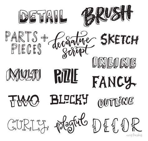 printable hand lettering fonts freebie hand lettering style inspiration guide hand