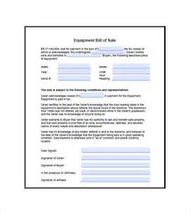 sales terms and conditions template free equipment bill of sale 8 free sle exle format