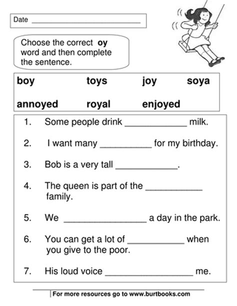 Oi And Oy Worksheets by Phonics Worksheets Oy And Oi Sounds By Coreenburt