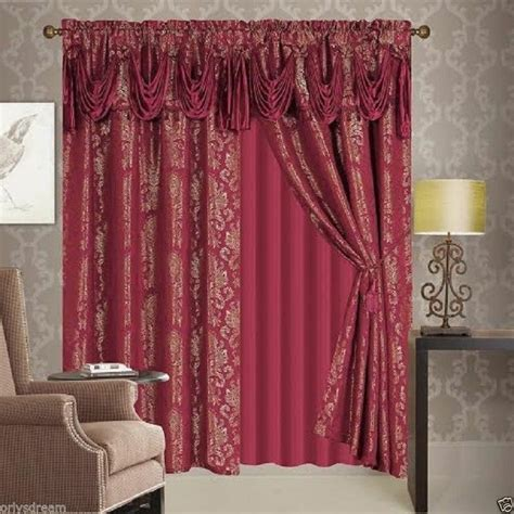 victorian style drapes new 6 pcs victorian style jacquard curtain set 2 panels