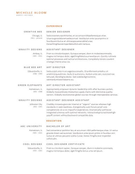 Free Resume Templates For Word The Grid System Resume Template Free