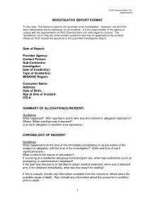 Investigation Report Writing Sample Investigative Report Template Aplg Planetariums Org