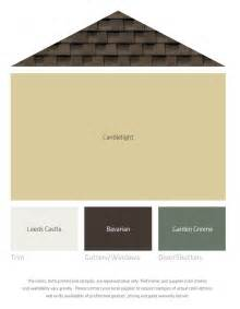 fresh color palettes for a brown roof exterior