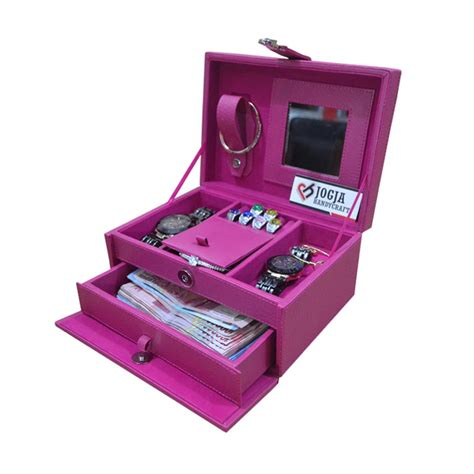 Tempat Perhiasan Jewelry Box 2221 jual jogja craft jw01aft pink fanta jewelry box kotak tempat perhiasan accesories