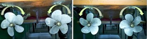 boat propeller direction of rotation measurement of flow characteristics in propeller