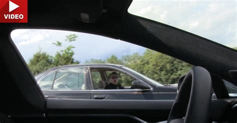 Tesla Driver Invisible Tesla Driver Prank Gives Us A Taste Of The Future