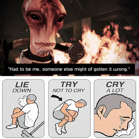 Try Not To Cry Meme - mordin try not to cry by tewbacca on deviantart