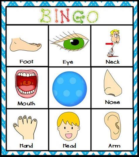 kindergarten activities my body body parts bingo literacy center activity or matching mats