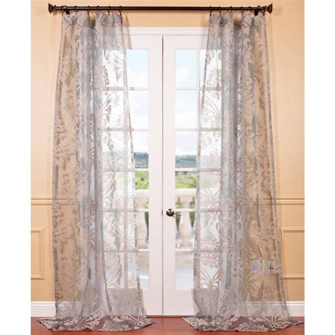 gray sheer curtains agatha taupe grey patterned sheer curtain panel