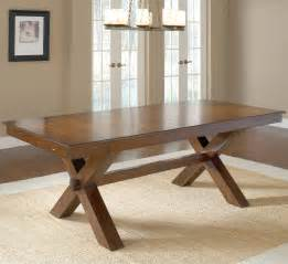 Dining Room Table Leaves by Trestle Dining Table W 2 Leaves