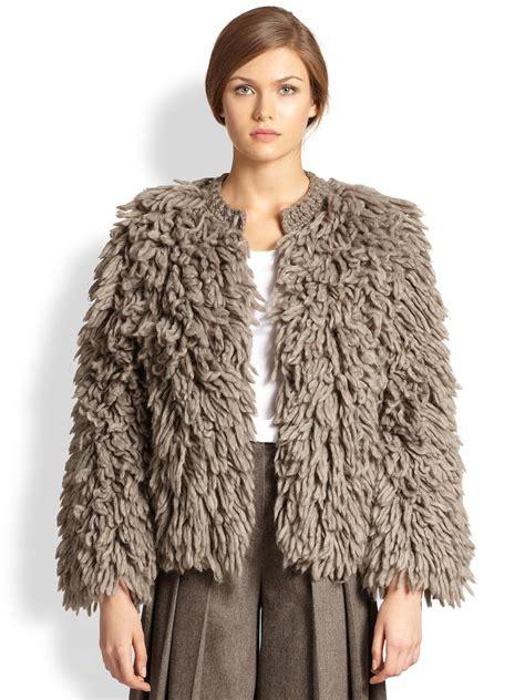 knit jacket s michael kors alpaca wool fringe knit jacket in