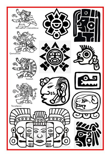 aztec tattoos history 15 best ideas about mayan symbols on japanese