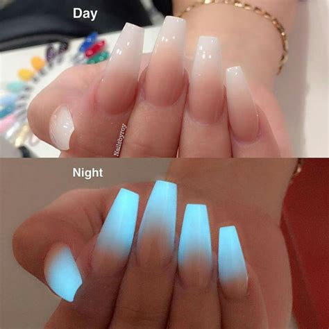 video tutorial 95 nail art ombr verde smeraldo e bianca con effetto glow in the dark hombre nail art pinterest dark