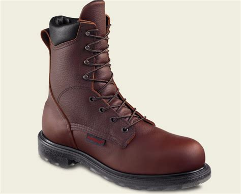 mens work boots made in usa wing 2408 mens brown steel toe made in usa 8 inch work