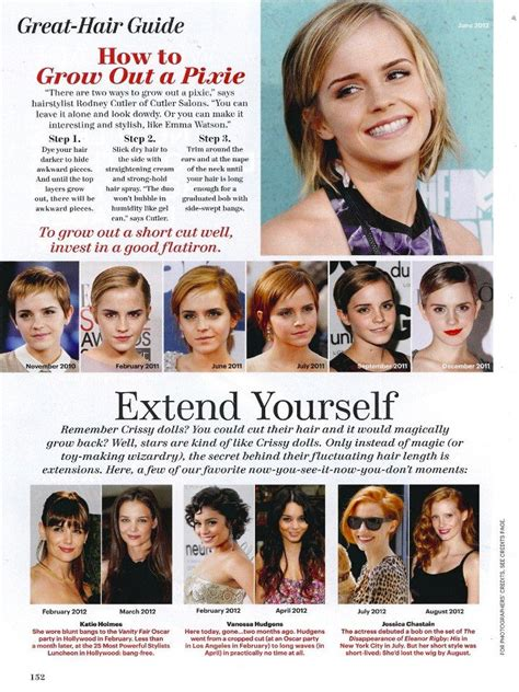 pictures of how to grow out a pixie cut how to grow out a pixie hair cut allure magazine emma