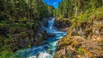 Silver Falls State Park, Washington, USA, stream, trees