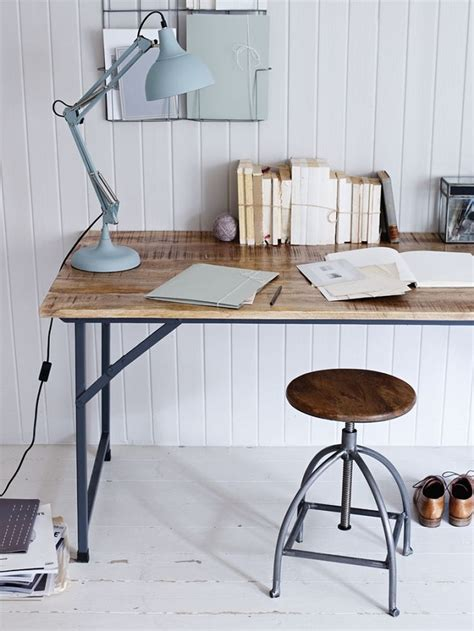 home office ideas with versatile industrial style