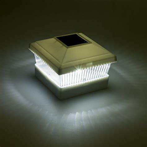 Solar Fence Post Cap Led Light For 5 X5 Posts White 12 Fence Post Solar Light Caps 5x5