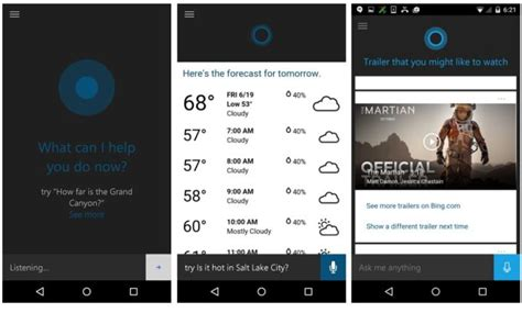 cortana for android microsoft releases cortana voice assistant beta for android liliputing