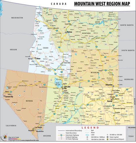 map of the west usa mountain west region map mountain states map