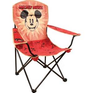 disney mickey mouse folding chair with arm rest